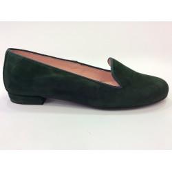 Zapato de ante verde